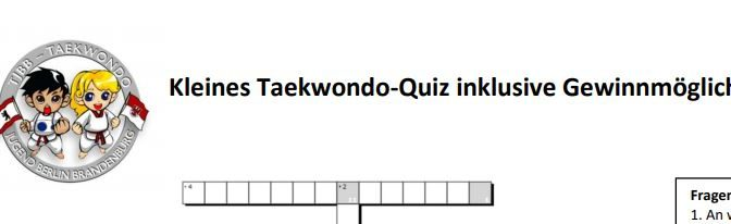 Taekwondo-Quiz vom TJBB